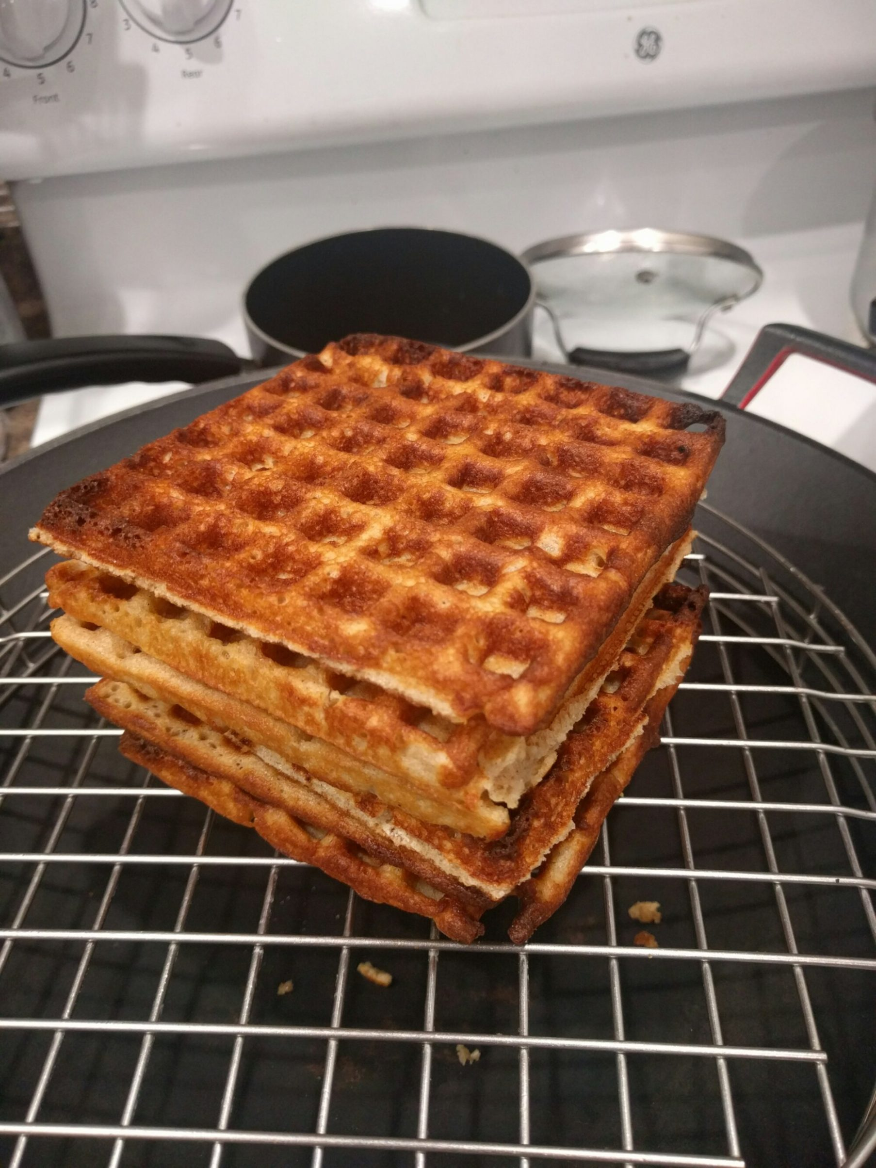 how to clean a burnt waffle iron